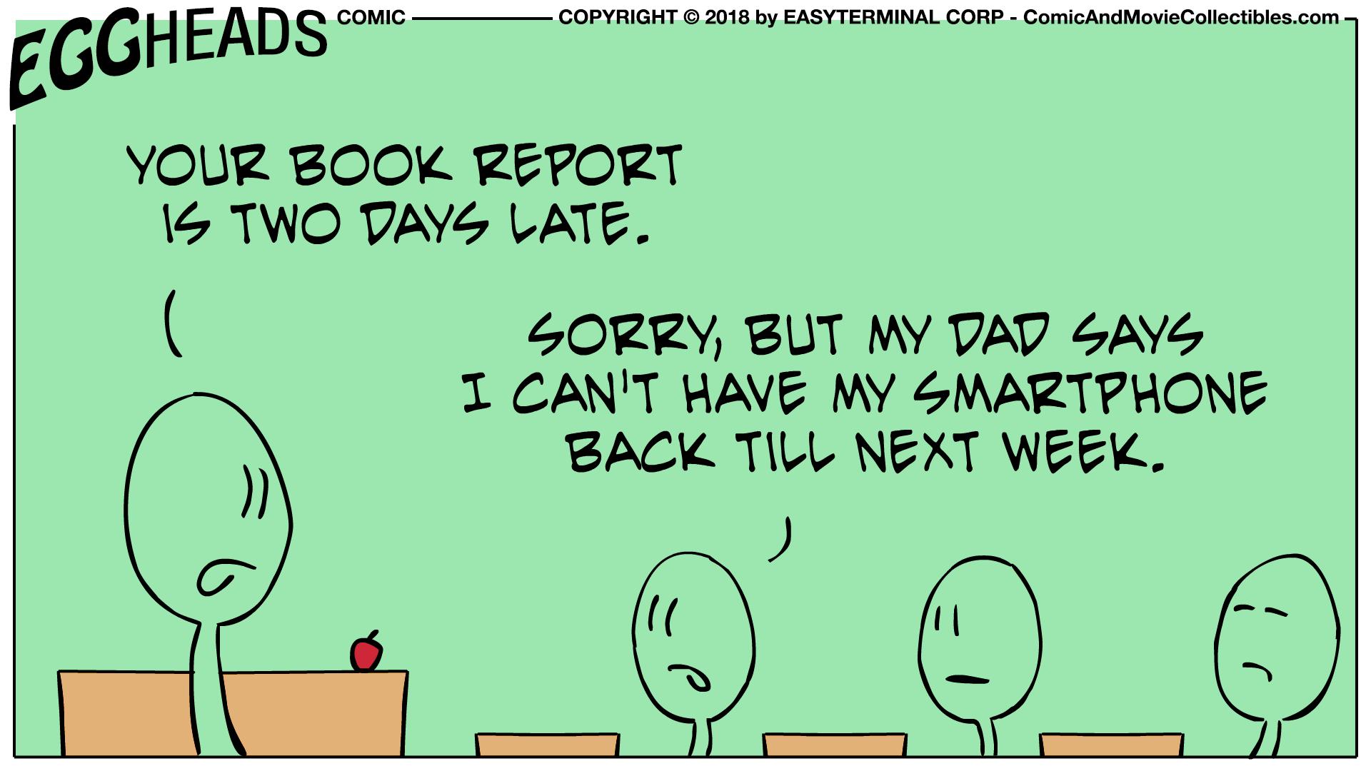 Webcomic Eggheads Comic Strip 014 Book Report