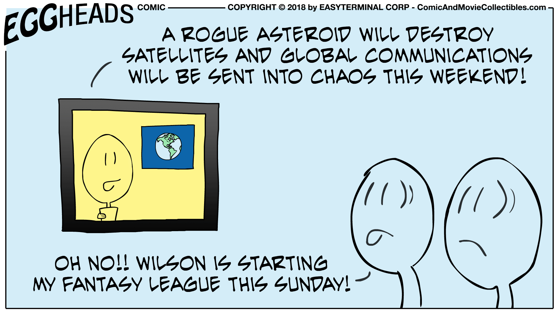 Webcomic Eggheads Comic Strip 027 Rogue Asteroid