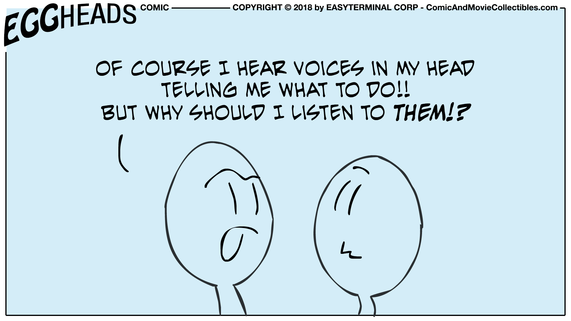 Webcomic Eggheads Comic Strip 029 I Hear Voices