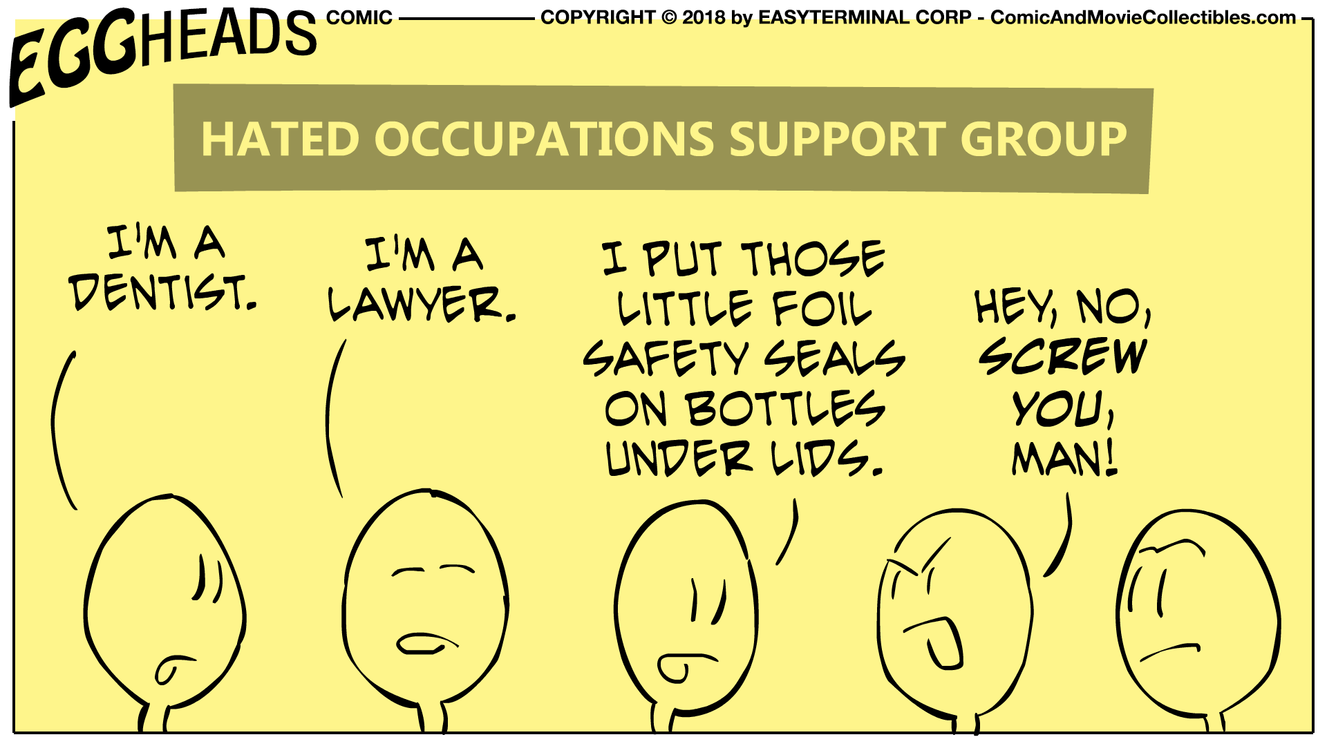 Webcomic Eggheads Comic Strip 031 Support Group