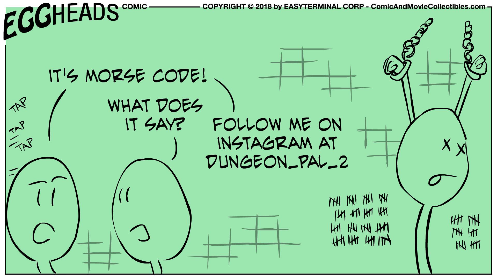 Webcomic Eggheads Comic Strip 033 Morse Code