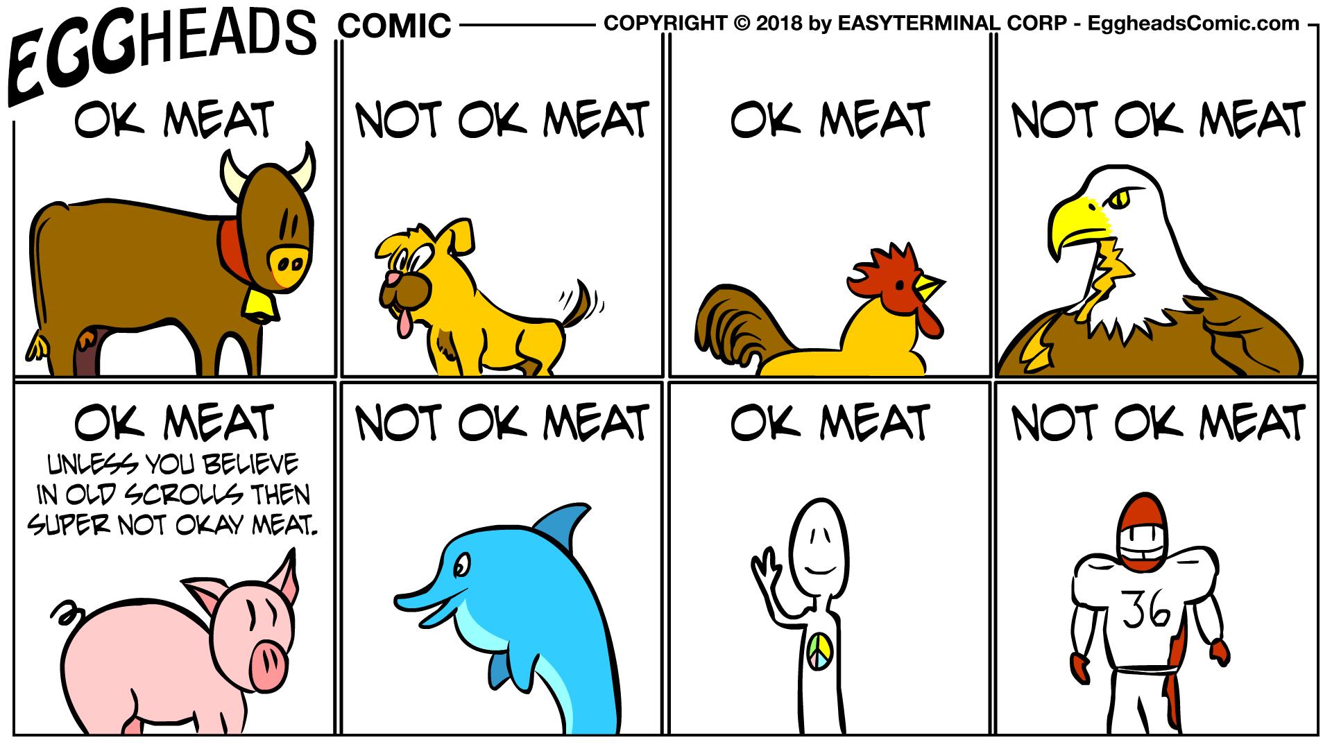 Webcomic Eggheads Comic Strip 050 OK Meat