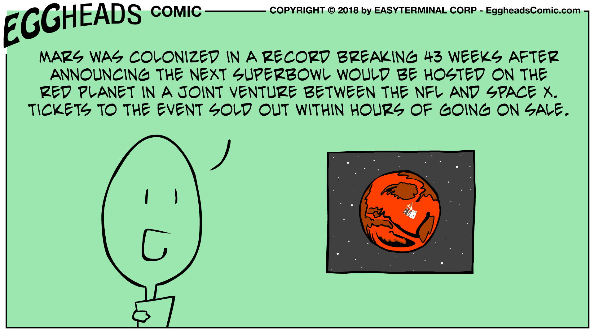 Webcomic Eggheads Comic Strip 053 Mars Was Colonized