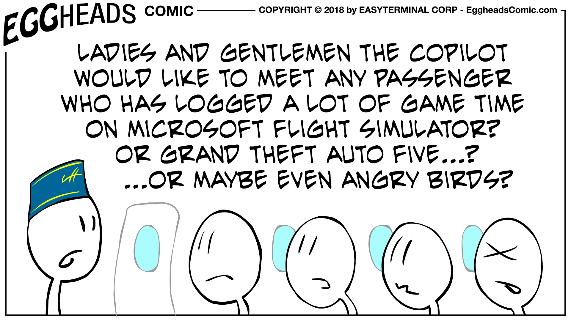 Webcomic Eggheads Comic Strip 057 Any Passenger