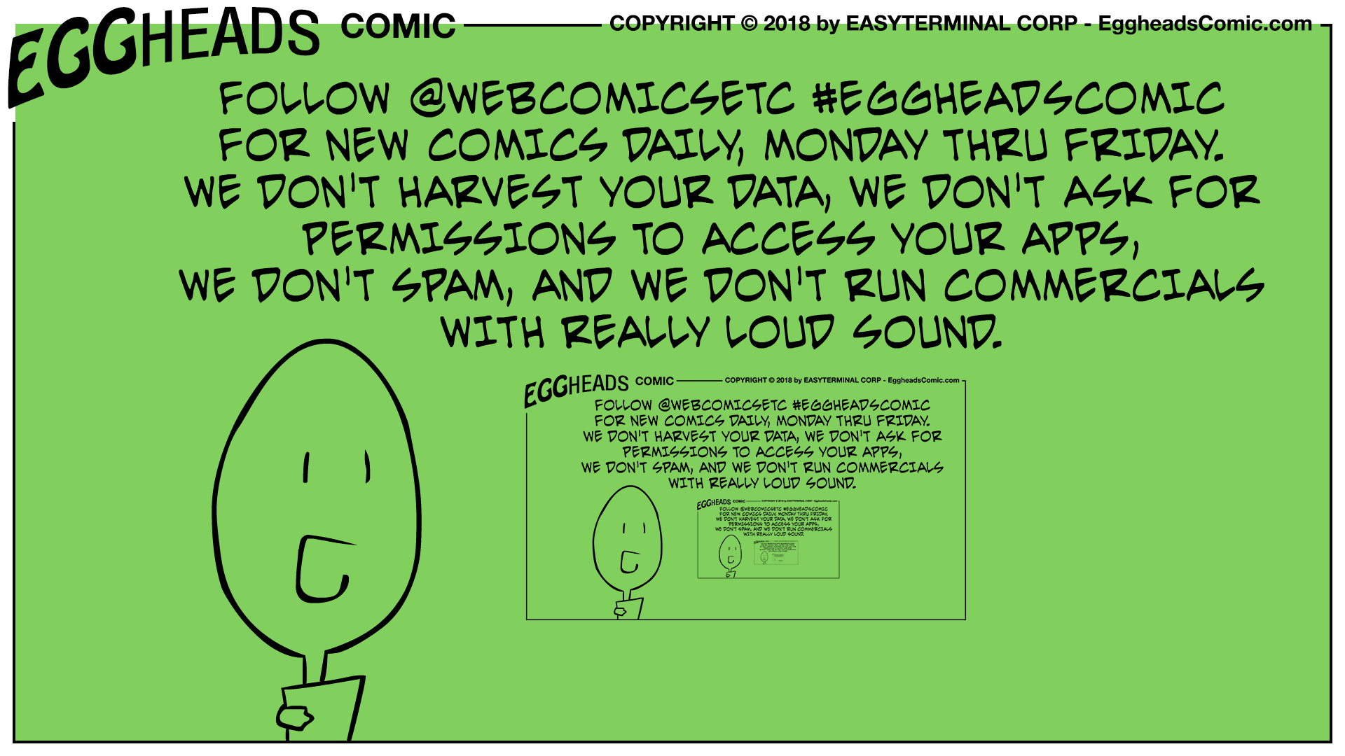 Webcomic Eggheads Comic Strip 061 Follow Us
