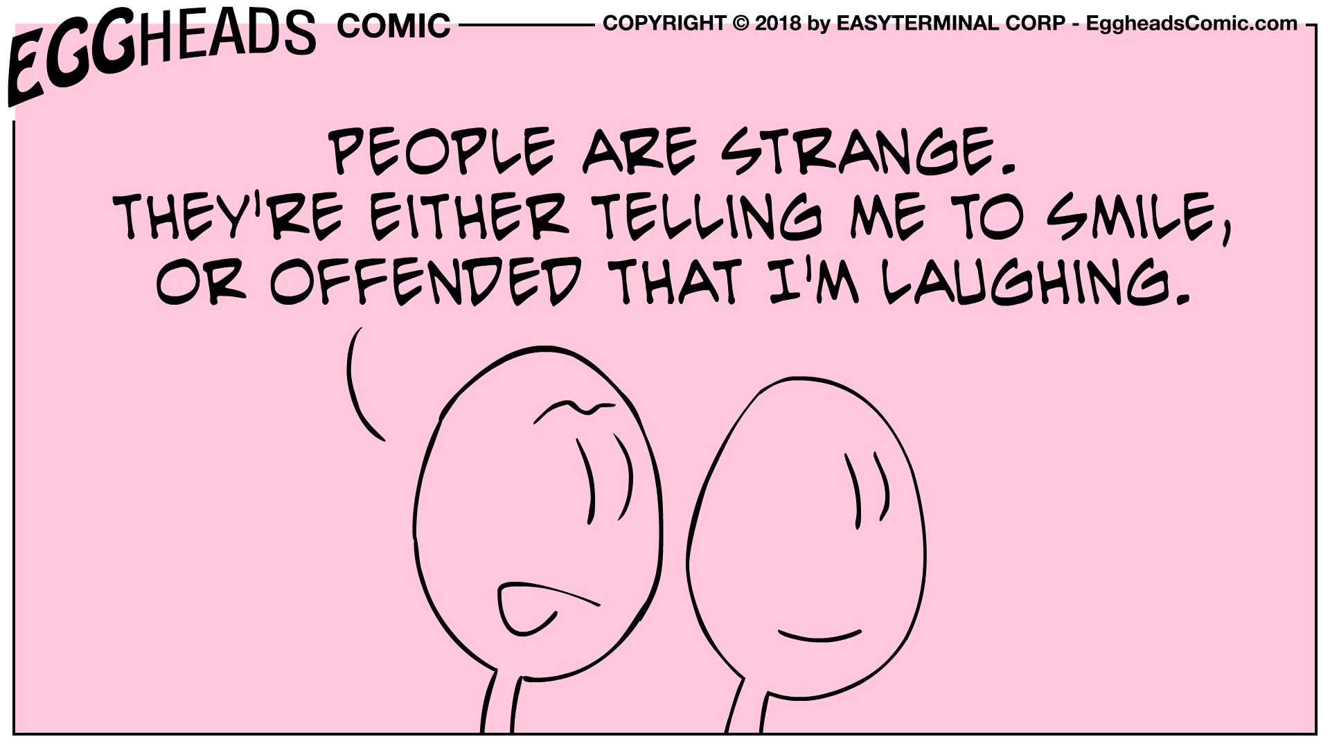 Webcomic Eggheads Comic Strip 064 People Are Strange