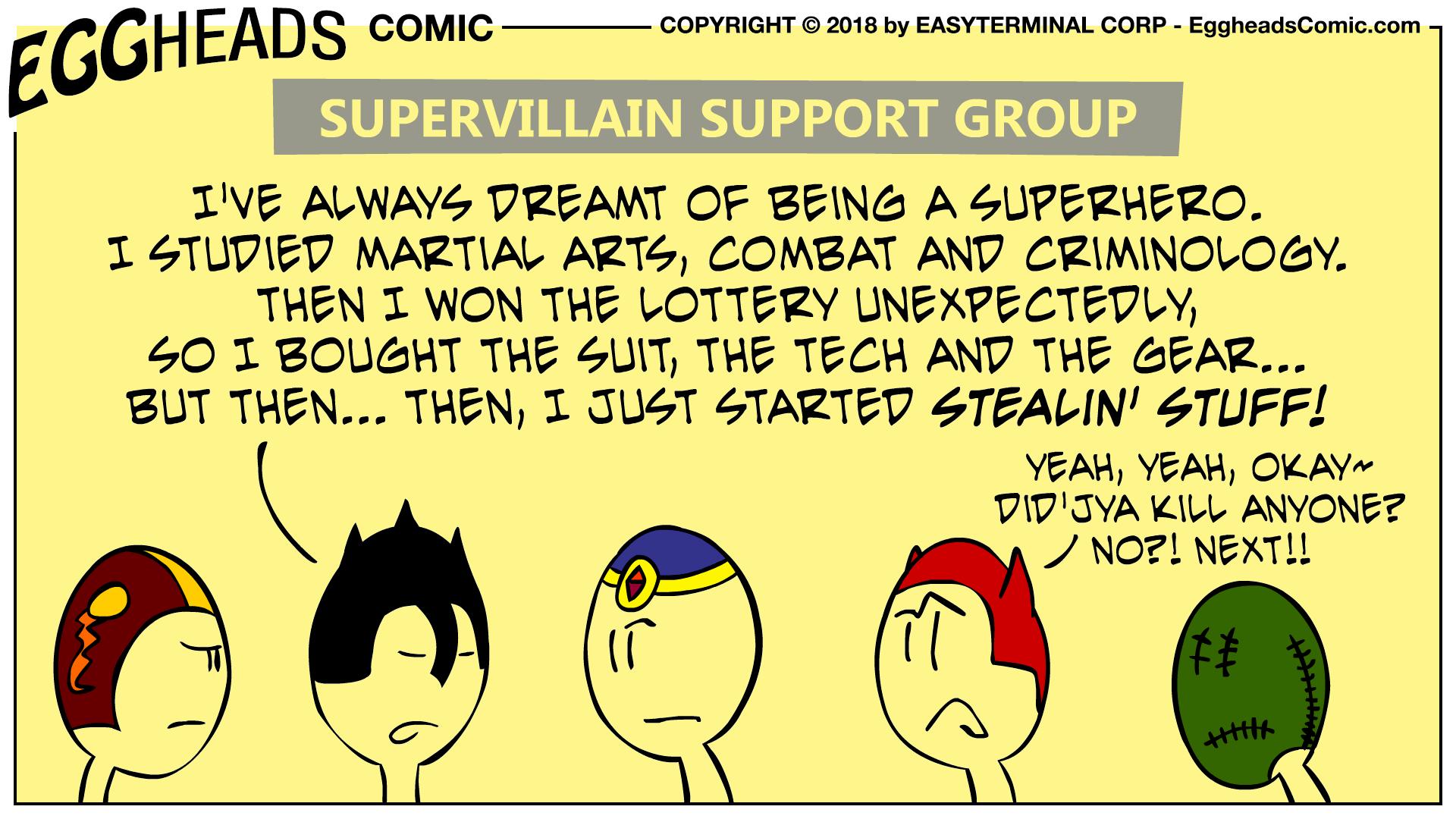 Webcomic Eggheads Comic Strip 068 Supervillain