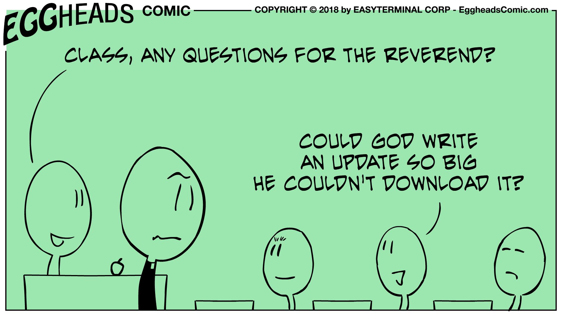 Webcomic Eggheads Comic Strip 073 The Reverend