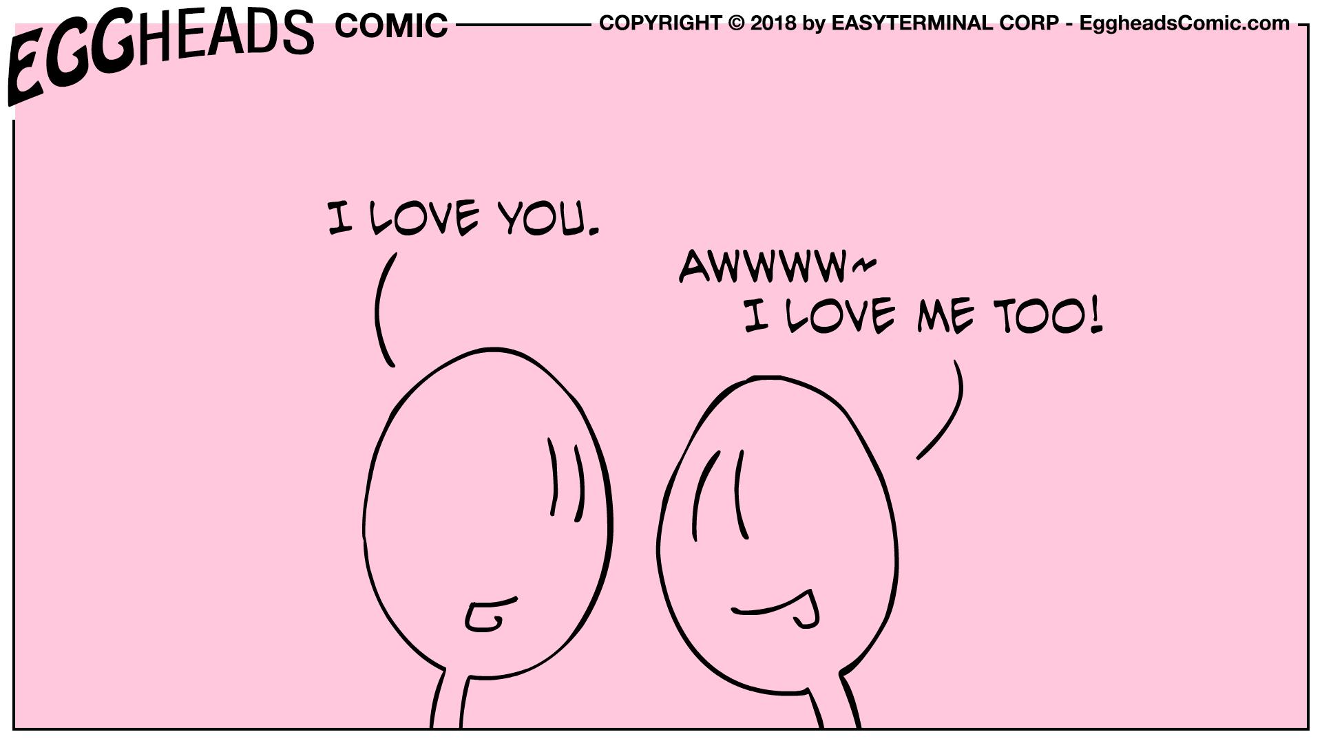 Webcomic Eggheads Comic Strip 077 I Love You