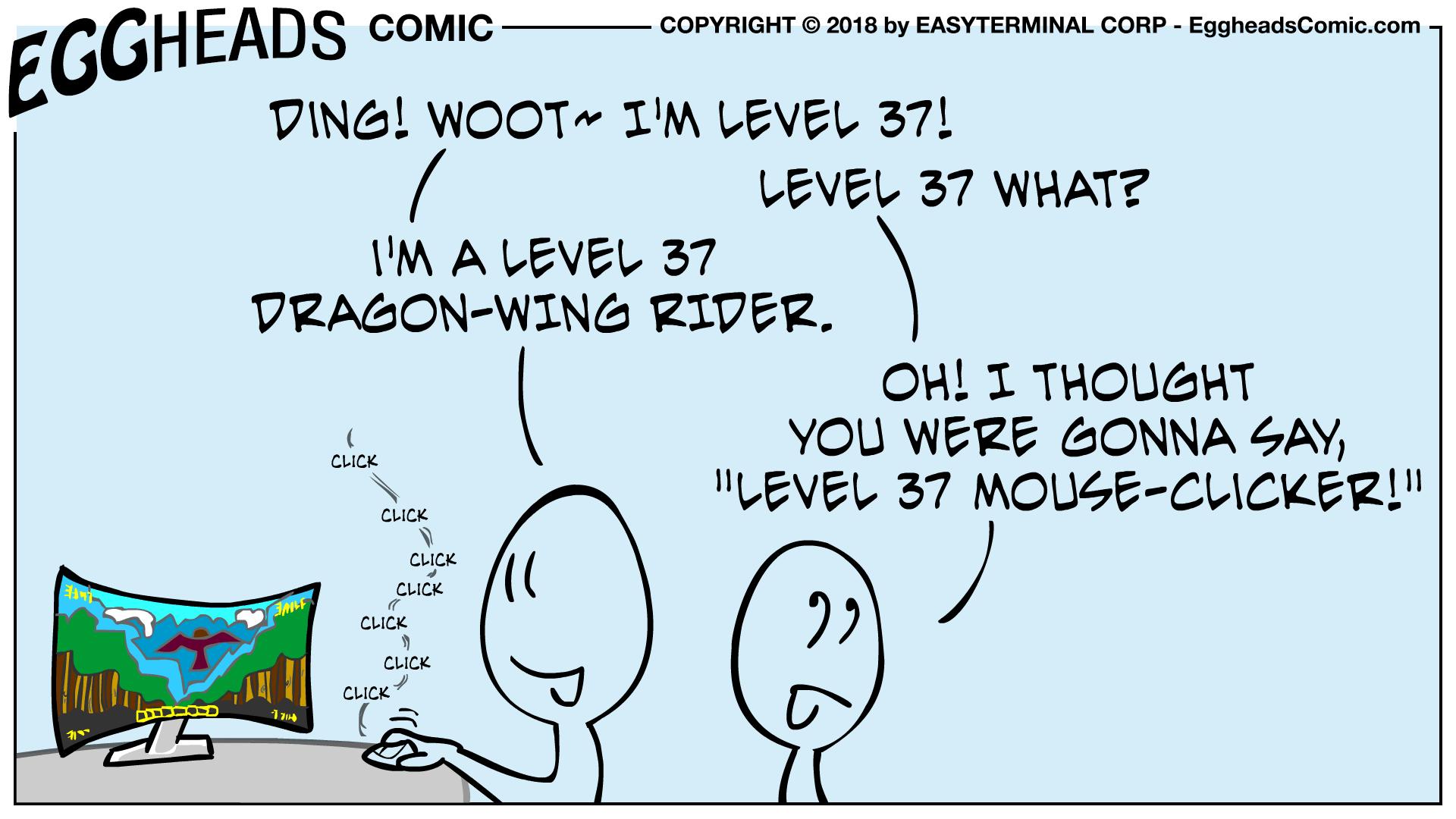 Webcomic Eggheads Comic Strip 081 Level 37