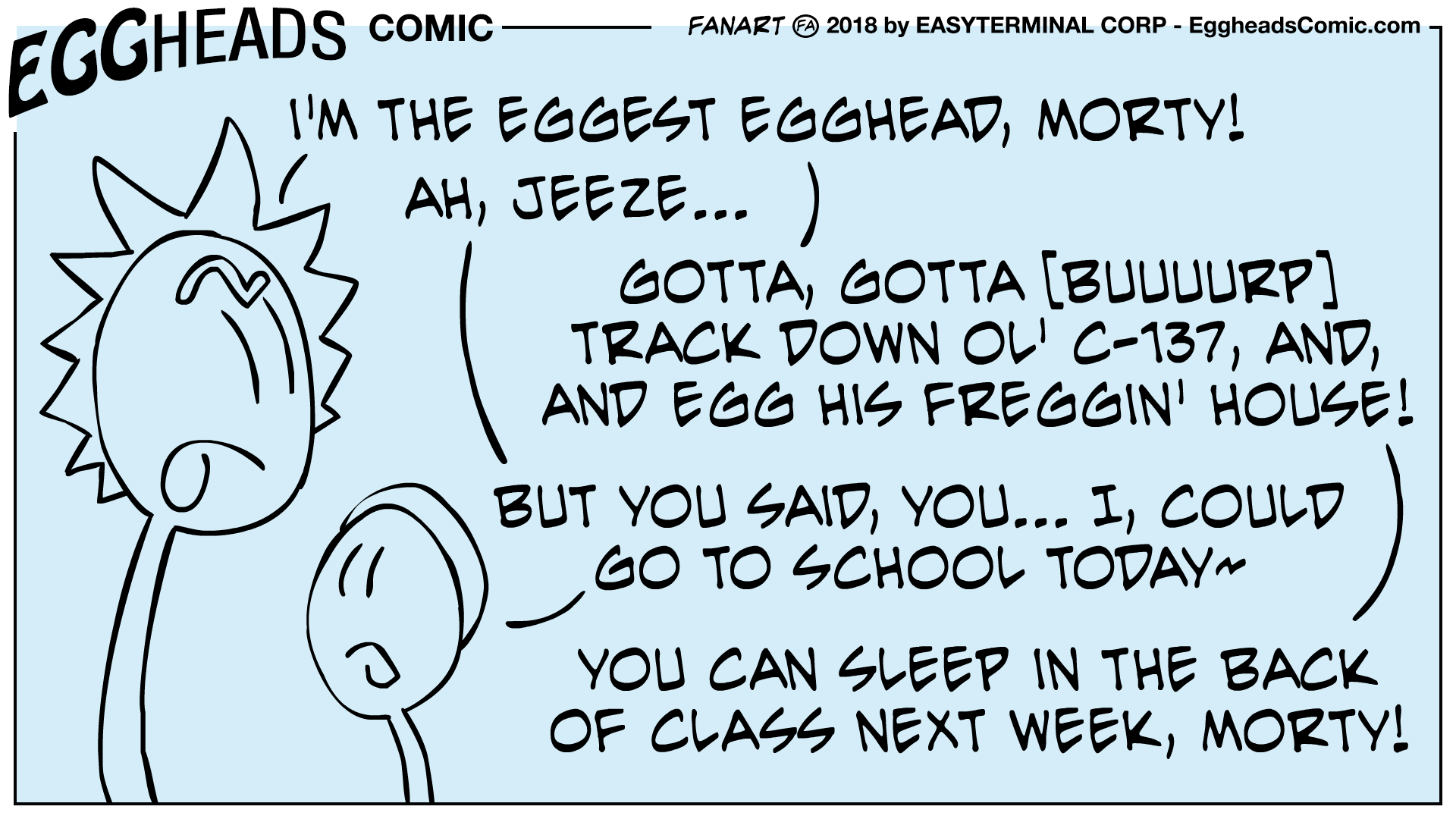 Webcomic Eggheads Comic Strip 085 Regg and Morty