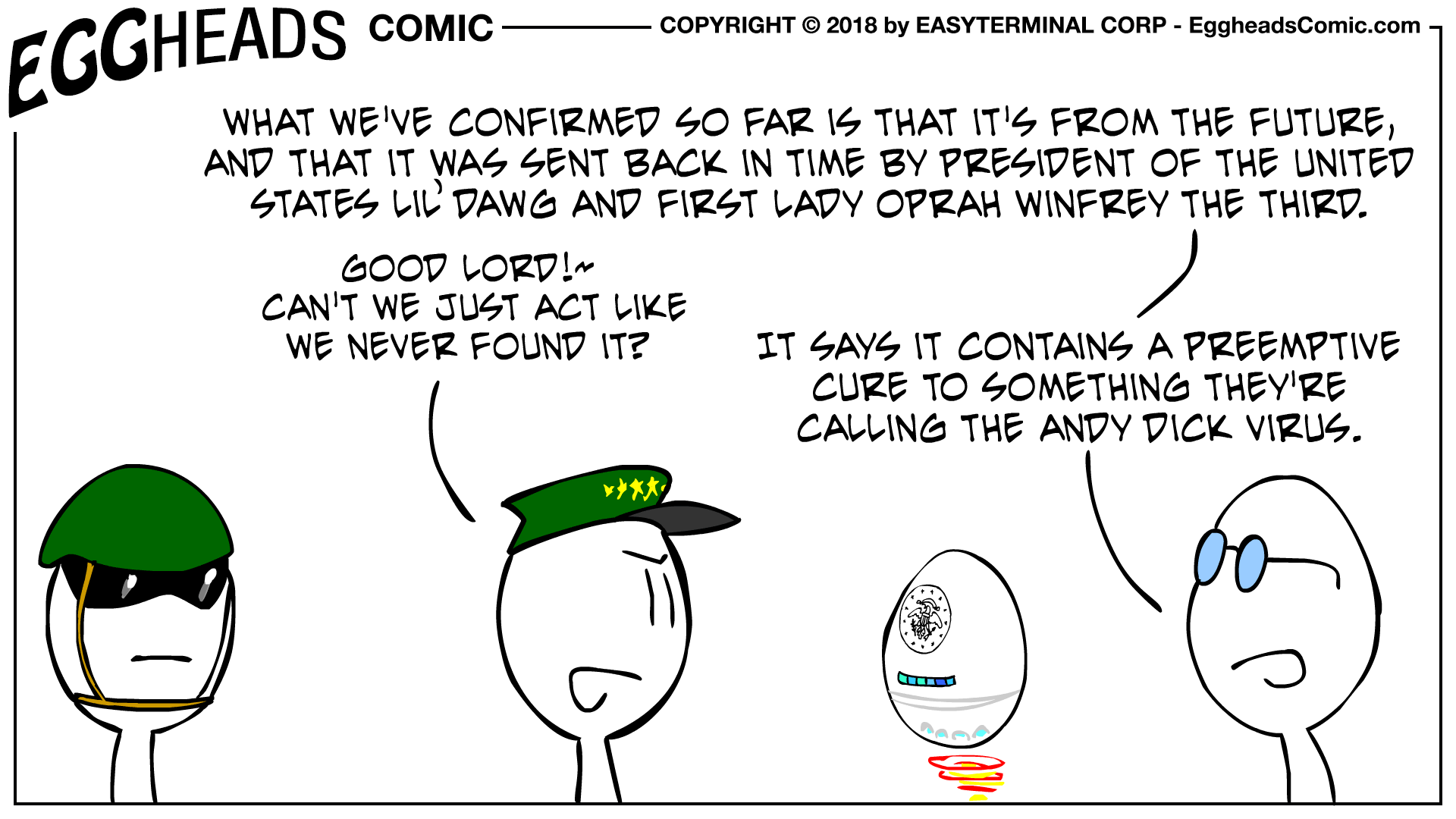 Eggheads Comic Strip 087 From The Future