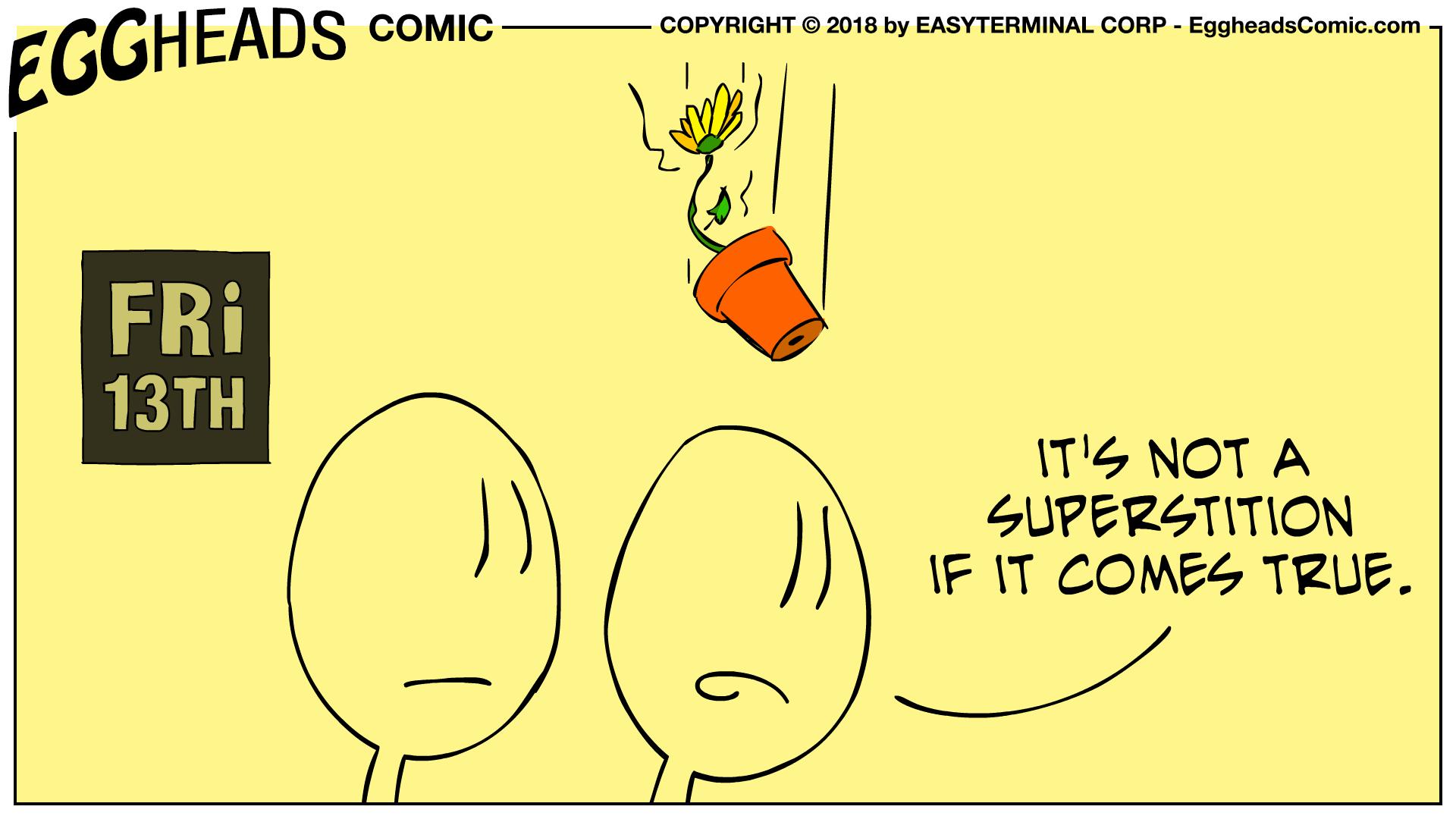 Webcomic Eggheads Comic Strip 090 Friday 13th