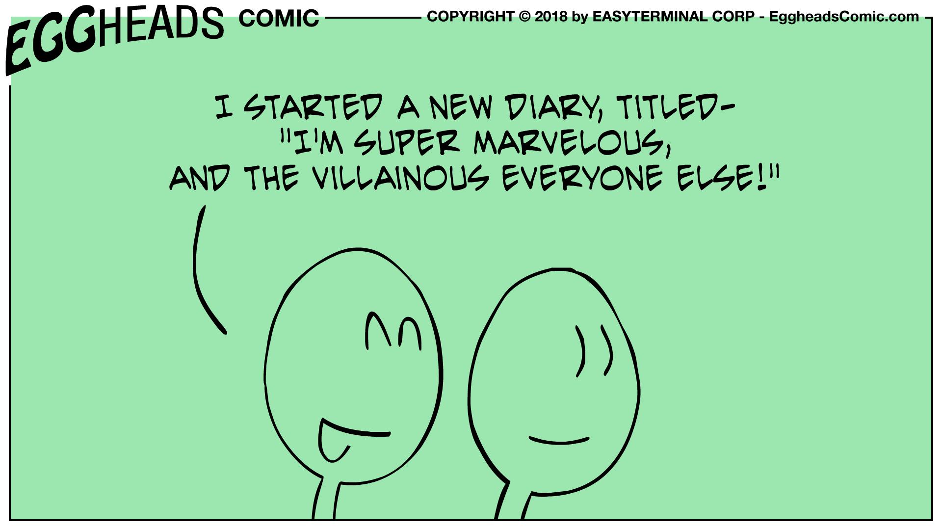 Webcomic Eggheads Comic Strip 096 New Diary