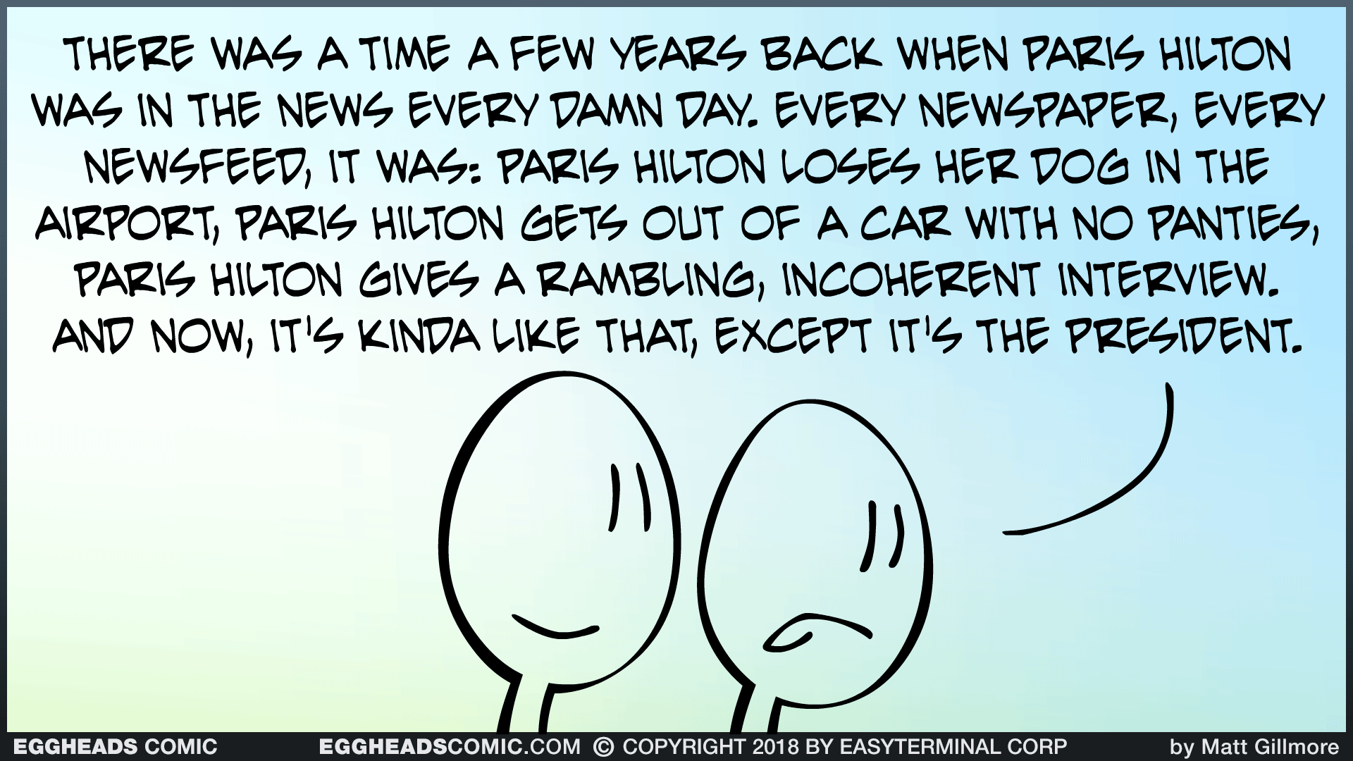 Webcomic Eggheads Comic Strip 109 There Was A Time