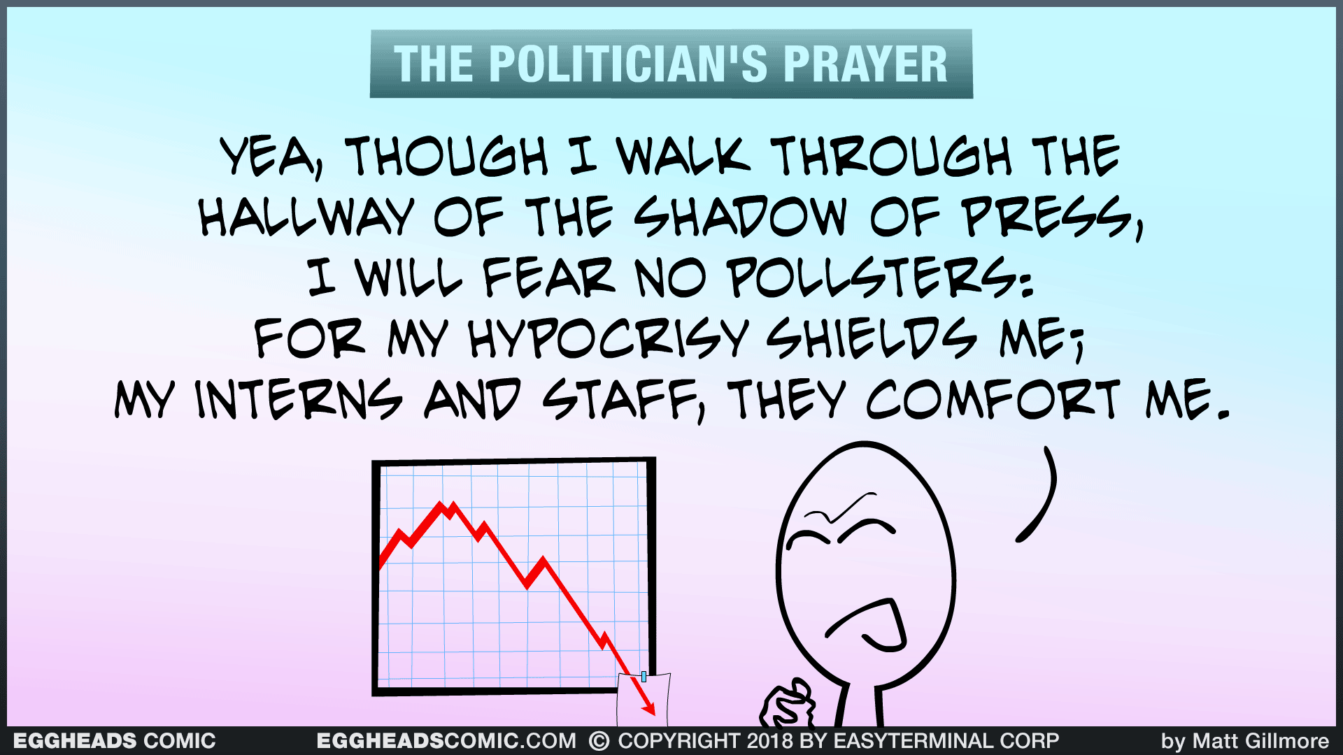 Webcomic Eggheads Comic Strip 117 Politician's Prayer