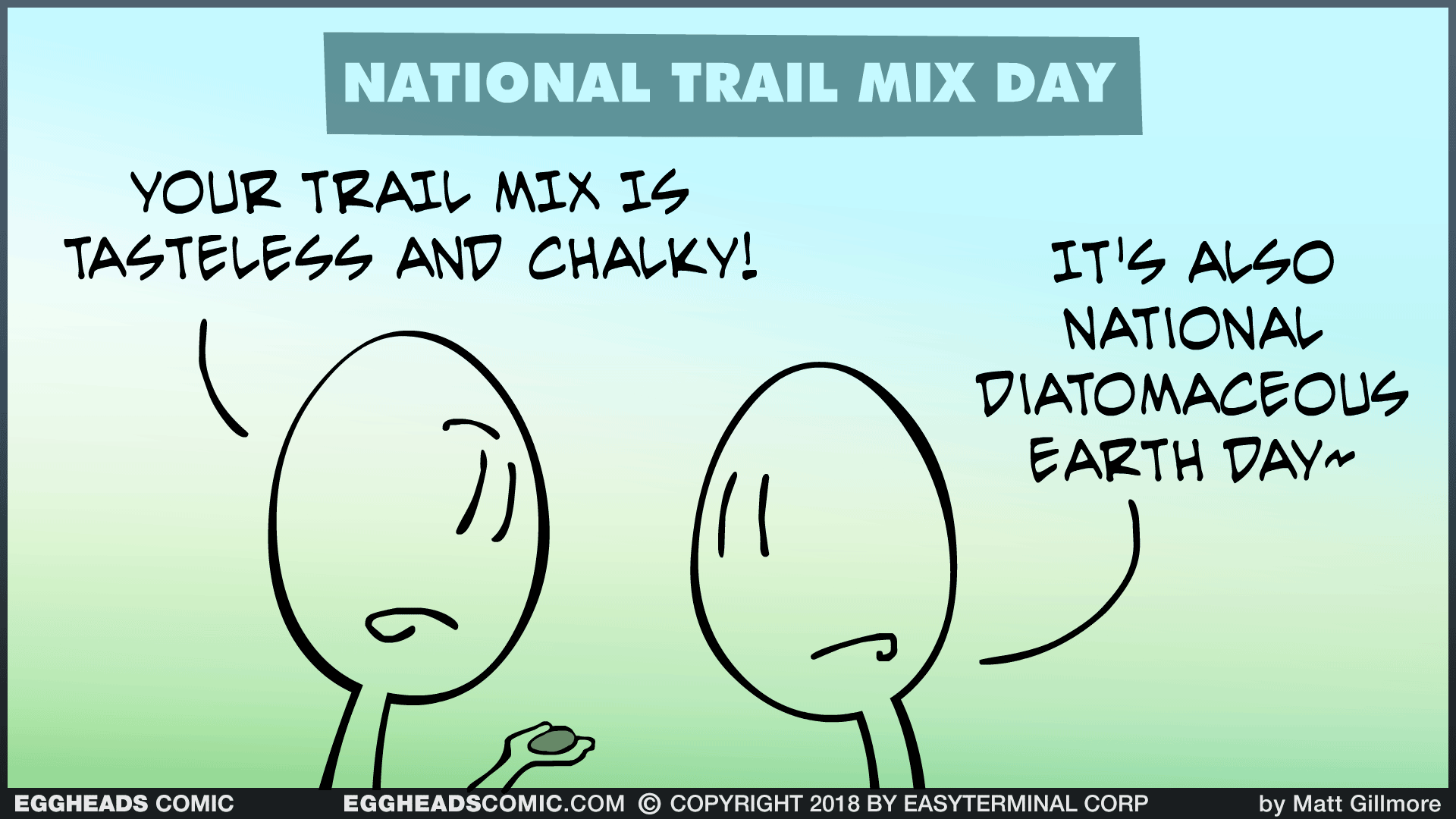 Webcomic Eggheads Comic Strip 119 National Trail Mix Day