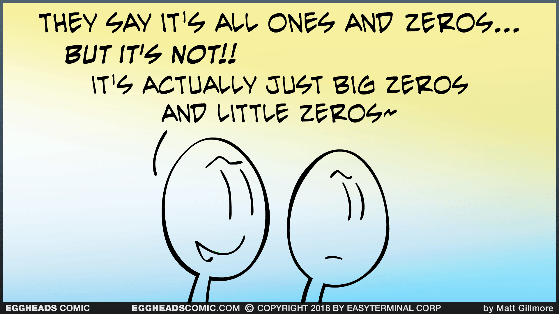Webcomic Eggheads Comic Strip 124 Ones And Zeros
