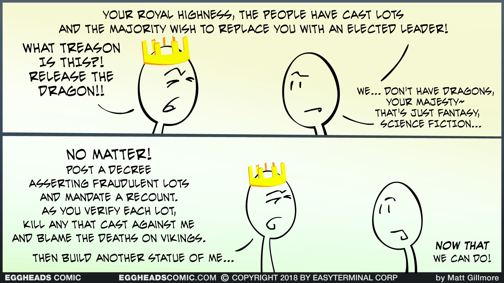 Webcomic Eggheads Comic Strip 131 Elected Leader