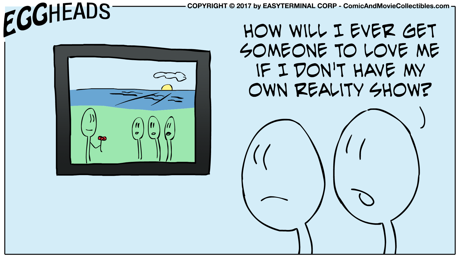 Webcomic Eggheads Comic Strip 006 Reality Show