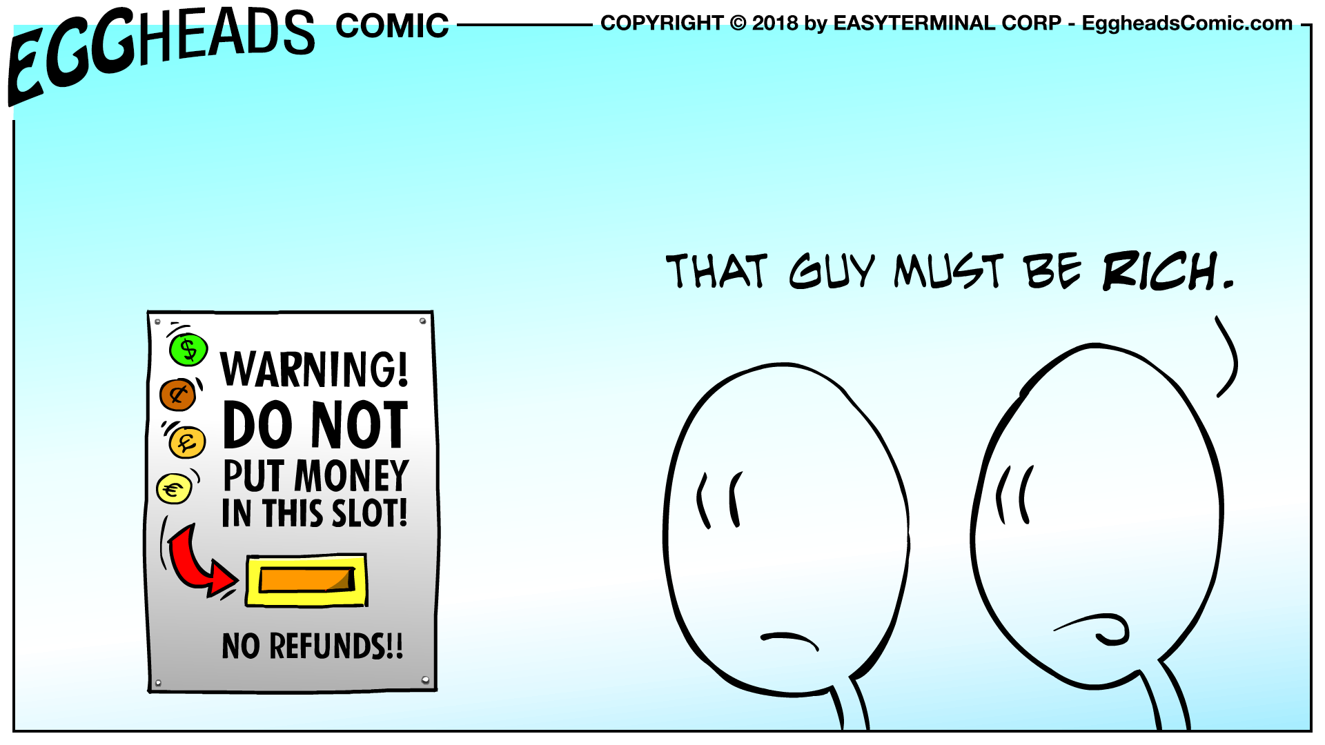 Webcomic Eggheads Comic Strip 047 Warning Do Not