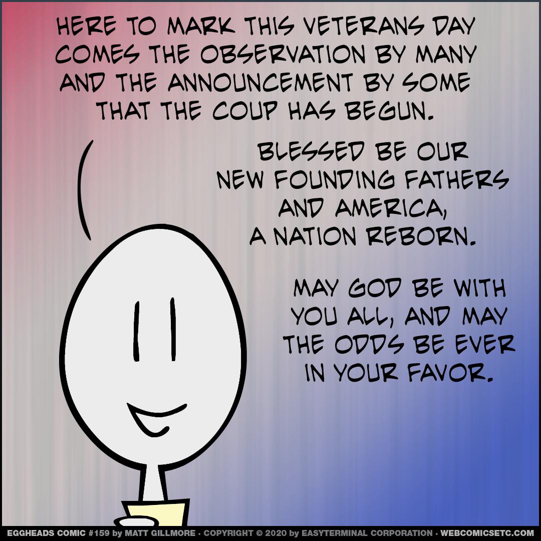 Webcomic Eggheads Comic Strip 159 Veterans Day Coup